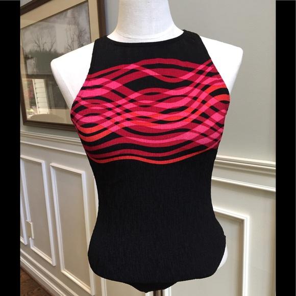 bc1ec066d5f9d Jantzen Swim | Black And Red One Piece Bathing Suit | Poshmark